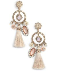 Marchesa - Tassel Chandelier Earrings - Lyst