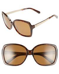 Kate Spade | 'darilynn' 58mm Polarized Sunglasses - Havana/ Brown Polar | Lyst