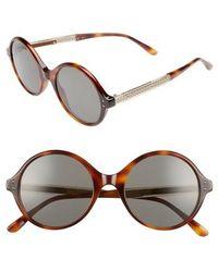 Bottega Veneta - 52mm Round Sunglasses - Avana - Lyst
