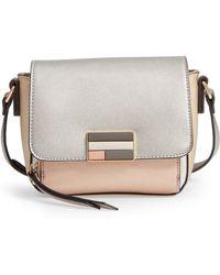 Sondra Roberts - Colorblock Metallic Faux Leather Crossbody Bag - - Lyst