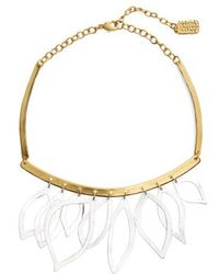 Karine Sultan - Two-tone Frontal Necklace - Lyst