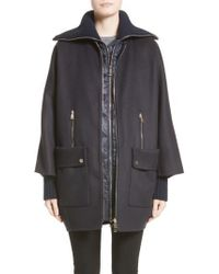 Moncler - Acanthus Wool & Cashmere Coat With Removable Down Puffer Layer - Lyst