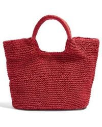 TOPSHOP - Brighty Straw Tote Bag - - Lyst