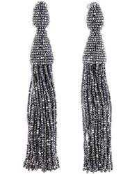 Oscar de la Renta - Long Tassel Drop Earrings - Lyst