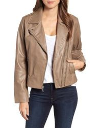 Bernardo - Double Zip Leather Jacket - Lyst