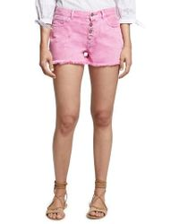 Sanctuary - Wild Cherry Fringed Jean Shorts - Lyst