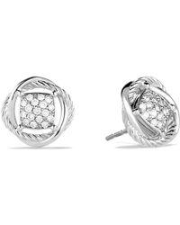 David Yurman - 'infinity' Pave Diamond Stud Earrings - Lyst