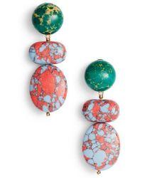 Lele Sadoughi - Boulder Drop Earrings - Lyst