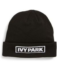 Ivy Park | Embroidered Patch Beanie | Lyst