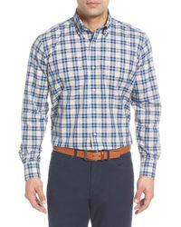 Peter Millar - Kairos Regular Fit Melange Check Sport Shirt - Lyst