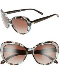 Tiffany & Co. - 56mm Gradient Sunglasses - Spotted Tort Blue/brn Grad - Lyst