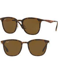 a83ba4e7d4 Lyst - Ray-Ban Highstreet Metal Frame Sunglasses in Green for Men