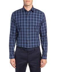 Calibrate - Trim Fit Windowpane Dress Shirt - Lyst