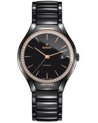 Rado - True Diamond Ceramic Bracelet Watch - Lyst