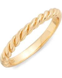 Argento Vivo - Rope Ring - Lyst