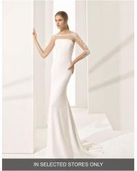 ROSA CLARA COUTURE - Parma Illusion Crepe Gown - Lyst