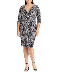 Lauren by Ralph Lauren - Zebra Twigs Sheath Dress - Lyst