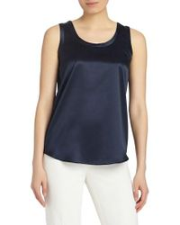 Lafayette 148 New York - Perla Reversible Silk Blouse - Lyst