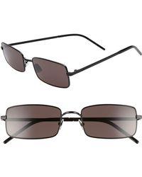1c75860264 Lyst - Saint Laurent Rectangular Optical Frames in Black for Men