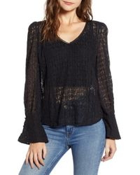 Hinge - Allover Lace Top - Lyst