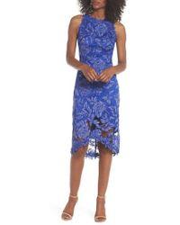 Tadashi Shoji - Embroidered Floral Sheath Dress - Lyst