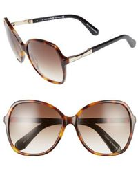Kate Spade - Jolyn 58mm Sunglasses - Dark Havana/ Gold - Lyst
