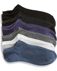 Ralph Lauren - 6-pack Low-cut Socks, Blue - Lyst