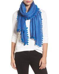 Eileen Fisher | Stripe Cotton & Silk Scarf | Lyst