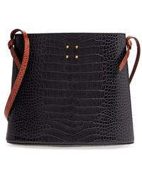 Trademark - Sybil Croc Embossed Leather Tote - Lyst