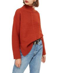 TOPSHOP - Mock Neck Sweater - Lyst