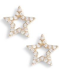 EF Collection - Open Star Diamond Stud Earrings - Lyst