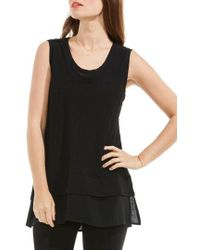Two By Vince Camuto - Mixed Media Top - Lyst