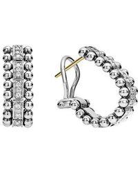 Lagos - Caviar Spark Diamond Oval Hoop Earrings - Lyst