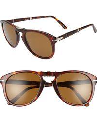 Persol - Folding Polarized Keyhole Sunglasses - - Lyst