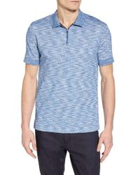 Vince Camuto - Zip Performance Mesh Polo - Lyst