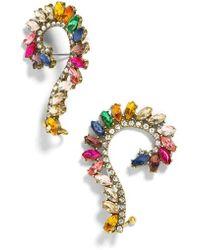 BaubleBar - Geovana Rainbow Crystal Ear Crawlers - Lyst