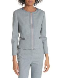 fbd7b5b49 Ted Baker - Ted Working Title Nadae Cropped Textured Jacket - Lyst