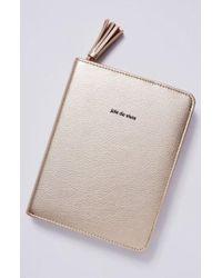 Anthropologie - Idiom Leather Journal - Metallic - Lyst