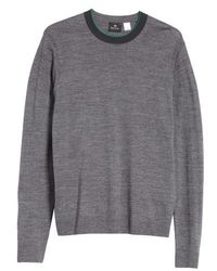 PS by Paul Smith - Crewneck Merino Wool Blend Sweater - Lyst