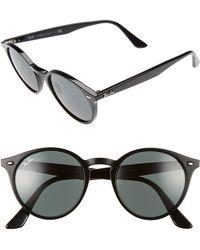 Ray-Ban - Highstreet 51mm Round Sunglasses - Lyst