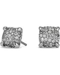 David Yurman - 'chatelaine' Earrings With Diamonds - Lyst