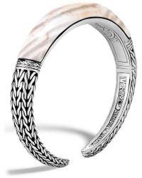 John Hardy - Classic Chain Small Graduated Kick Cuff Bracelet - Lyst