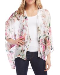 Karen Kane - Floral Draped Kimono - Lyst