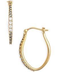 Judith Jack - Marcasite & Swarovski Crystal Hoop Earrings - Lyst