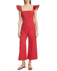 Sea - Callie Ruffle Strap Jumpsuit - Lyst