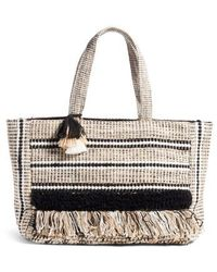 Amuse Society - Carried Away Woven Weekend Tote - Lyst