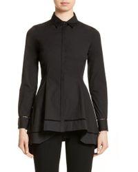 Lela Rose | Peplum Shirt | Lyst