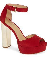 fbf6a871b7dd MICHAEL Michael Kors - Paloma Metallic Heel Platform Sandal - Lyst