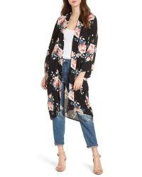 Mimi Chica - Rose Print Kimono - Lyst