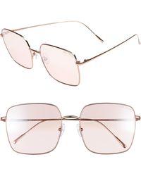 Vedi Vero - 58mm Square Sunglasses - Shiny Rose Gold - Lyst